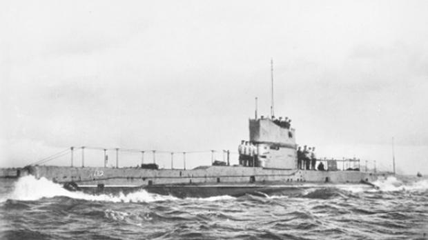 Australian submarine HMAS AE2.
