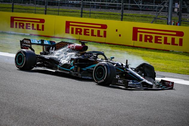 Watch: Hamilton wins seventh British Grand Prix on three wheels