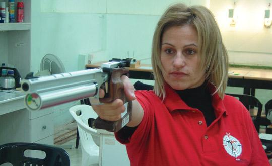 Eleanor Bezzina... best score in air-pistol.