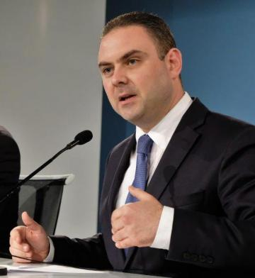 Owen Bonnici at today's press conference. Photo: PL