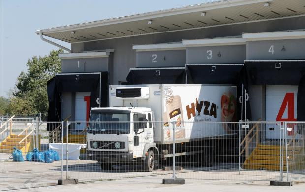 The truck in which the migrants' corpses were found. File photo: Reuters