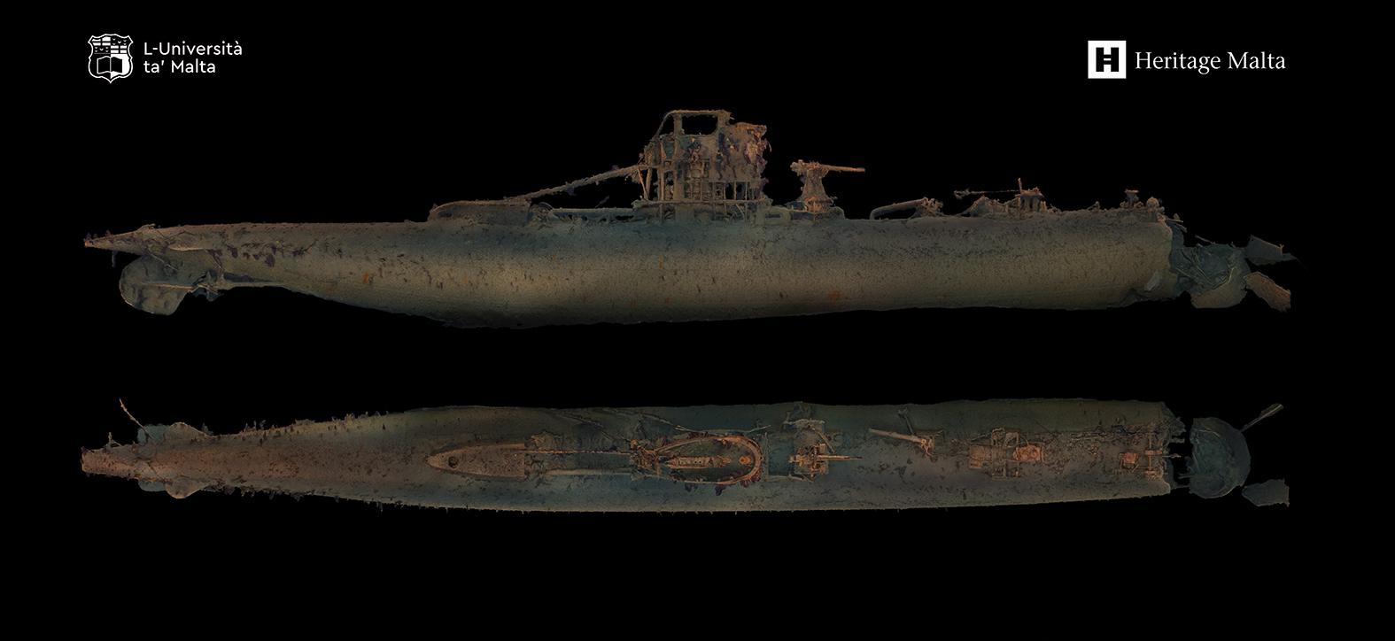Screen grab from the 3D model produced by the University of Malta and Heritage Malta during the April survey