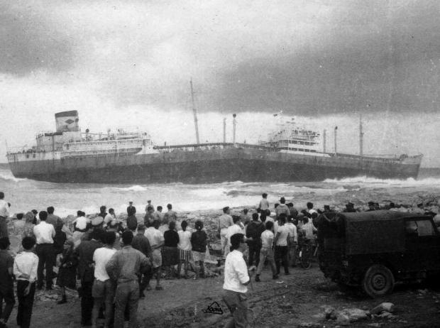 The Angel Gabriel shipwreck in 1969. Photo: Frank Attard