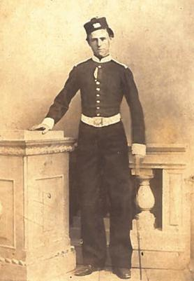 Portrait of a man in uniform by Mrs S.A. Harrison, possibly Malta's earliest professional woman photographer. Author's collection