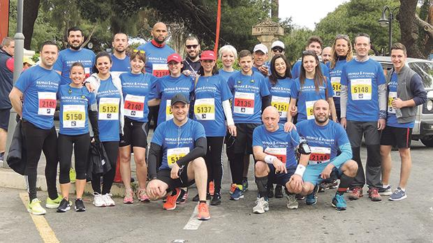 Remax agents at the Annual Vodafone Malta Marathon where over 45 agents represented the NGO.