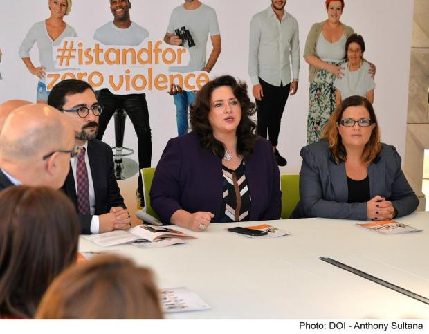 Equality Minister Helena Dalli addressing the conference.