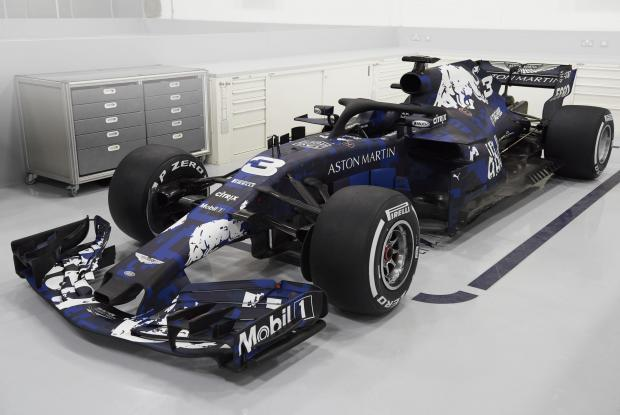 The new Red Bull car that will be racing in the 2018 world championship.