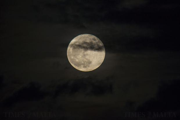 The brightest supermoon in almost 69 years is seen over Malta on November 14. Photo: Darrin Zammit Lupi