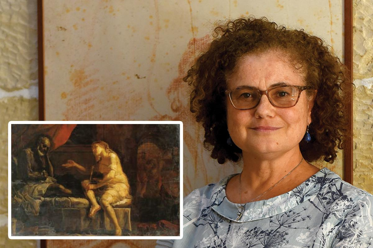 Art historian Theresa Vella made a pivotal discovery in Maltese art history when she spotted the Preti painting (inset) illustrated in a Brocktorff watercolour (above).