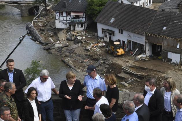 Western Europe death toll passes 180, Merkel shocked by 'surreal' disaster