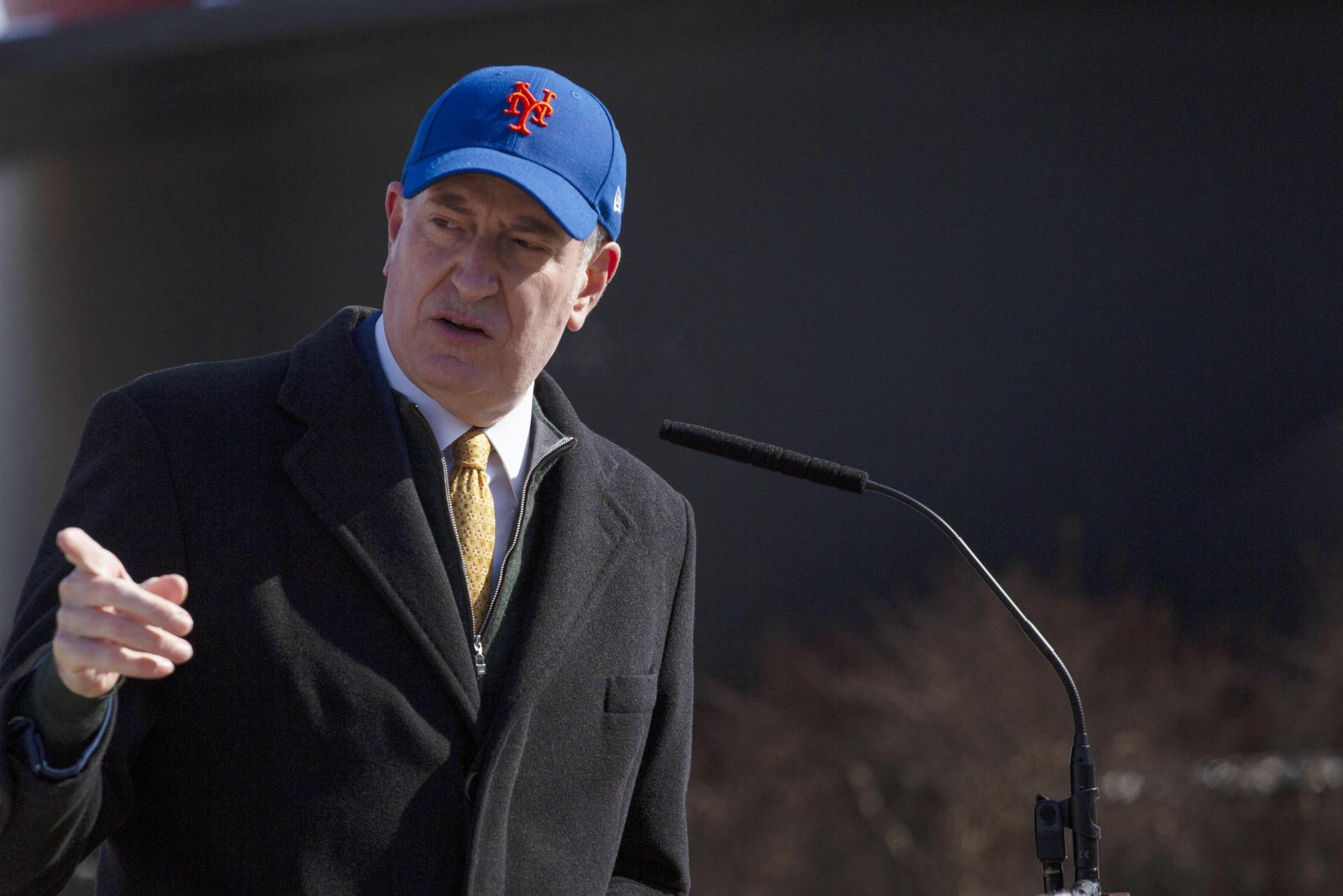 New York major Bill de Blasio. Photo: Kena Betancur/AFP