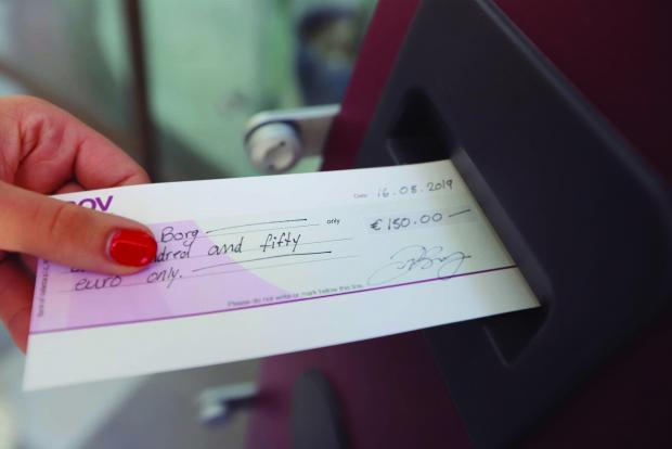 BOV cheques will no longer be transferable to third parties