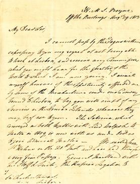 William Meyer's letter to Sir Charles Stuart, dated August 29, 1813.
