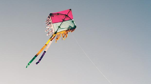 A traditional kite created from scratch during the kite-making workshop flies above Exiles Beach, Sliema, during Winds Bring Gifts Ashore, part of the Windrose Project produced by The Rubberbodies Collective and part of the Valletta 2018 Cultural Programme. Photos: Tumer Gencturk