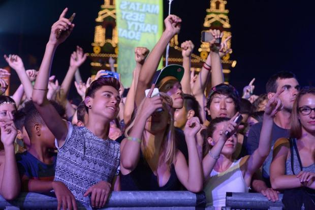 Members of the crowd wait for headline act Jason Derulo to appear at the Isle of MTV Concert on the Granaries in Floriana on July 7. Photo: Matthew Mirabelli