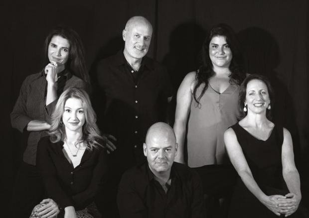 The star-studded cast of De-terminated. Clockwise from left: Charlotte Grech, Jes Camilleri, Marta Vella, Isabel Warrington, Alan Paris and Jo Caruana. Photo: Pierre Stafrace