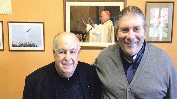 Mgr Charles Vella (left) with Don Giovanni D'Onofrio.