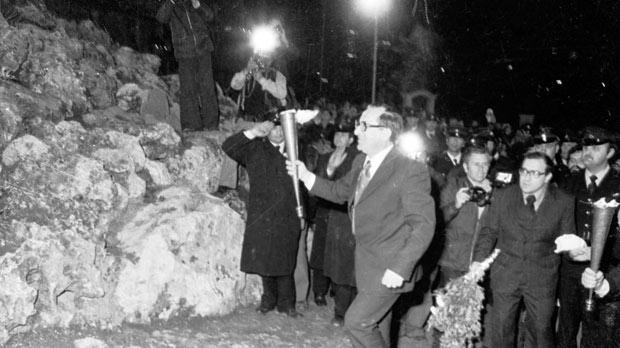 Dom Mintoff walks to the Freedom Monument on March 31, 1979. Photo: DOI
