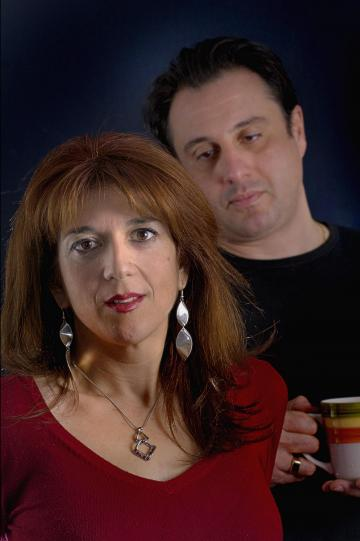 The promo shot for Stitching. Pia Zammit and Mikhail Basmadjian. Photo: Joseph Borg