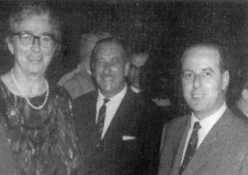 Paul Carachi (right) in the late 1960s with Miss Strickland and Robert Borg Olivier (brother of Prime Minister Dr George Borg Olivier) at a reception at the Workers` Memorial Building