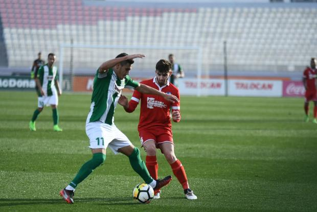 Floriana started the new year with a victory over Tarxien Rainbows. Photo: Jonathan Borg