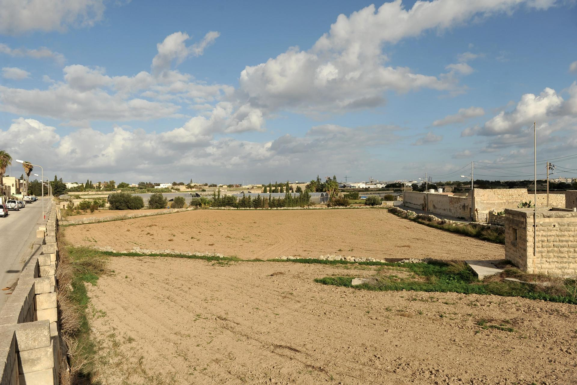 The approved Central Link will take up less agricultural land for a new bypass outside Attard - but will not spare 20 football pitches. Photo: Chris Sant Fournier.