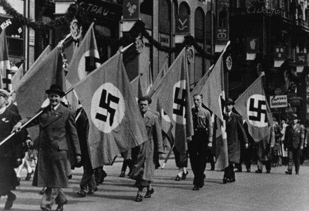 A Nazi parade in 1938. Photo: Shutterstock