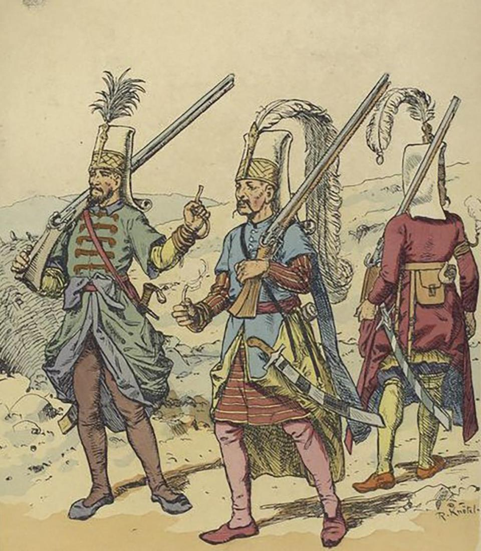 Typical Janissaries of the 16th century.