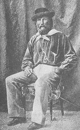 Giuseppe Garibaldi, a hero of the Italian Risorgimento, from a photograph.