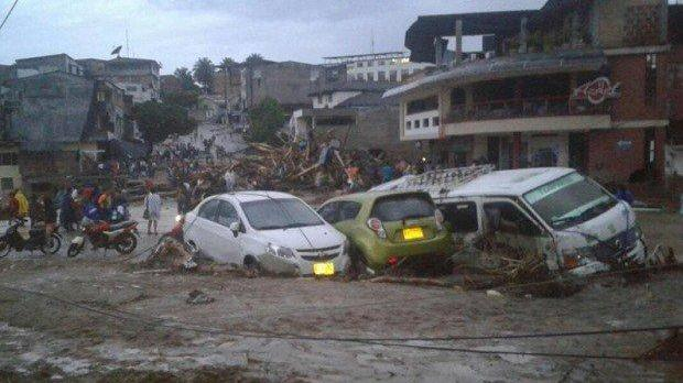 24 dead after river overflows, destroying homes in Colombia