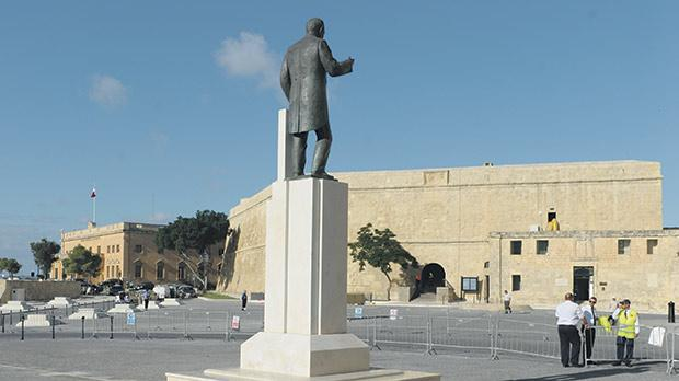 Architect Alex Torpiano criticised the decision to have a number of statues scattered throughout the square. Photo: Matthew Mirabelli