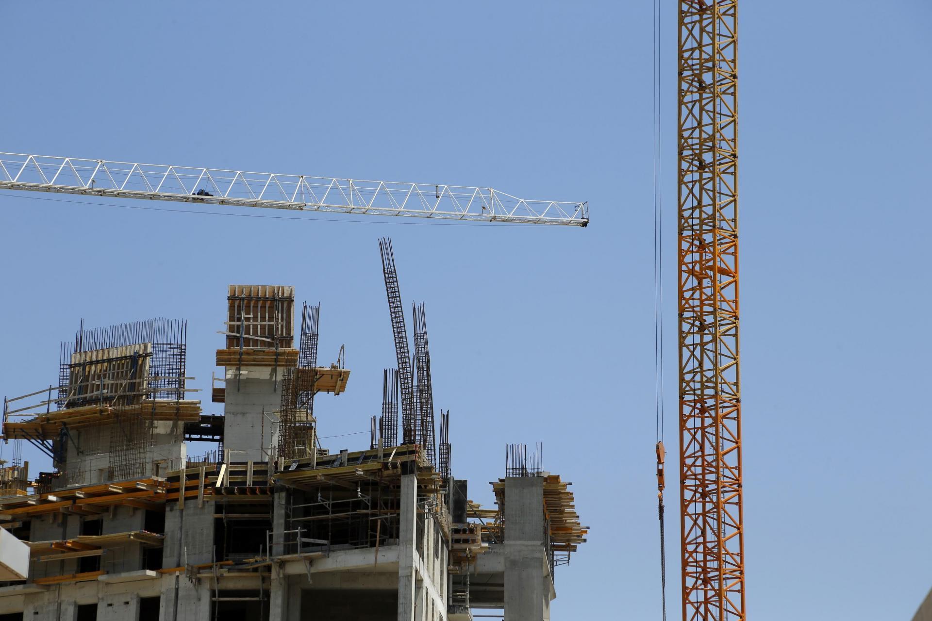 A high-rise construction site. 'Malta is moving into a modern era', Saliba argues. Photo: Matthew Mirabelli