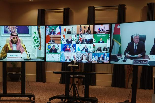 Coronavirus crisis dominates Saudi-hosted G20 'virtual' summit