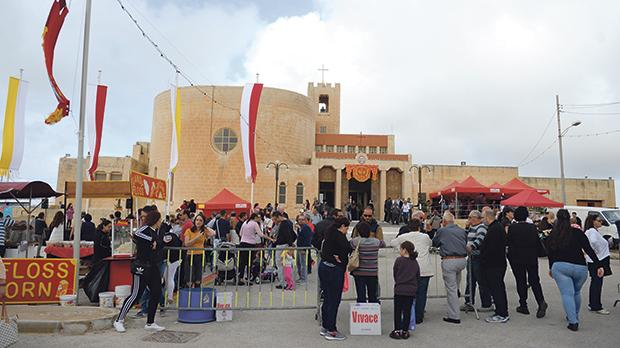 People in front of Baħrija church for last year's edition of St Martin's fair. Photo: Matthew Mirabelli