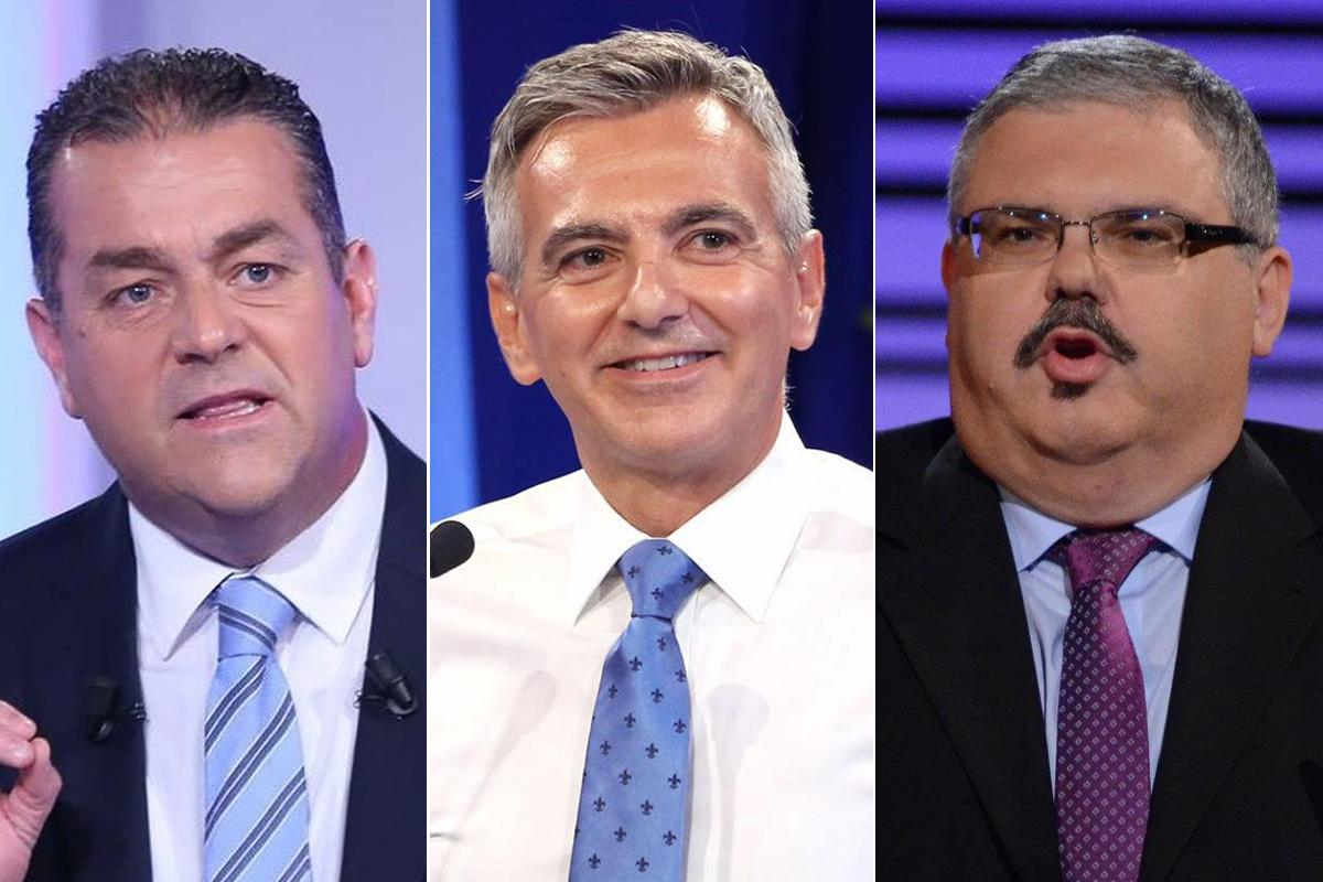 From left: Beppe Fenech Adami, Simon Busuttil and George Pullicino.