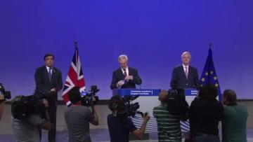 Much talk, few compromises in first Brexit negotiations