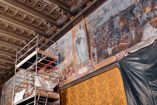 Great Siege paintings at Grandmaster's Palace undergoing restoration