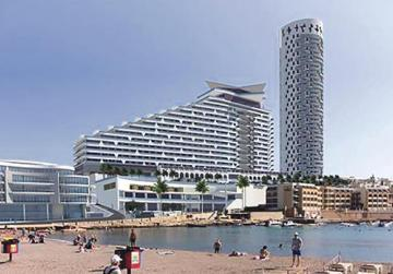 The proposed 38-storey tower and 18-floor hotel