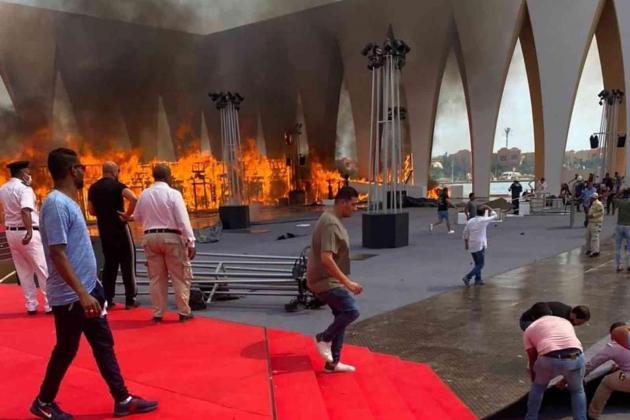 Blaze hits Egypt film festival site day before opening