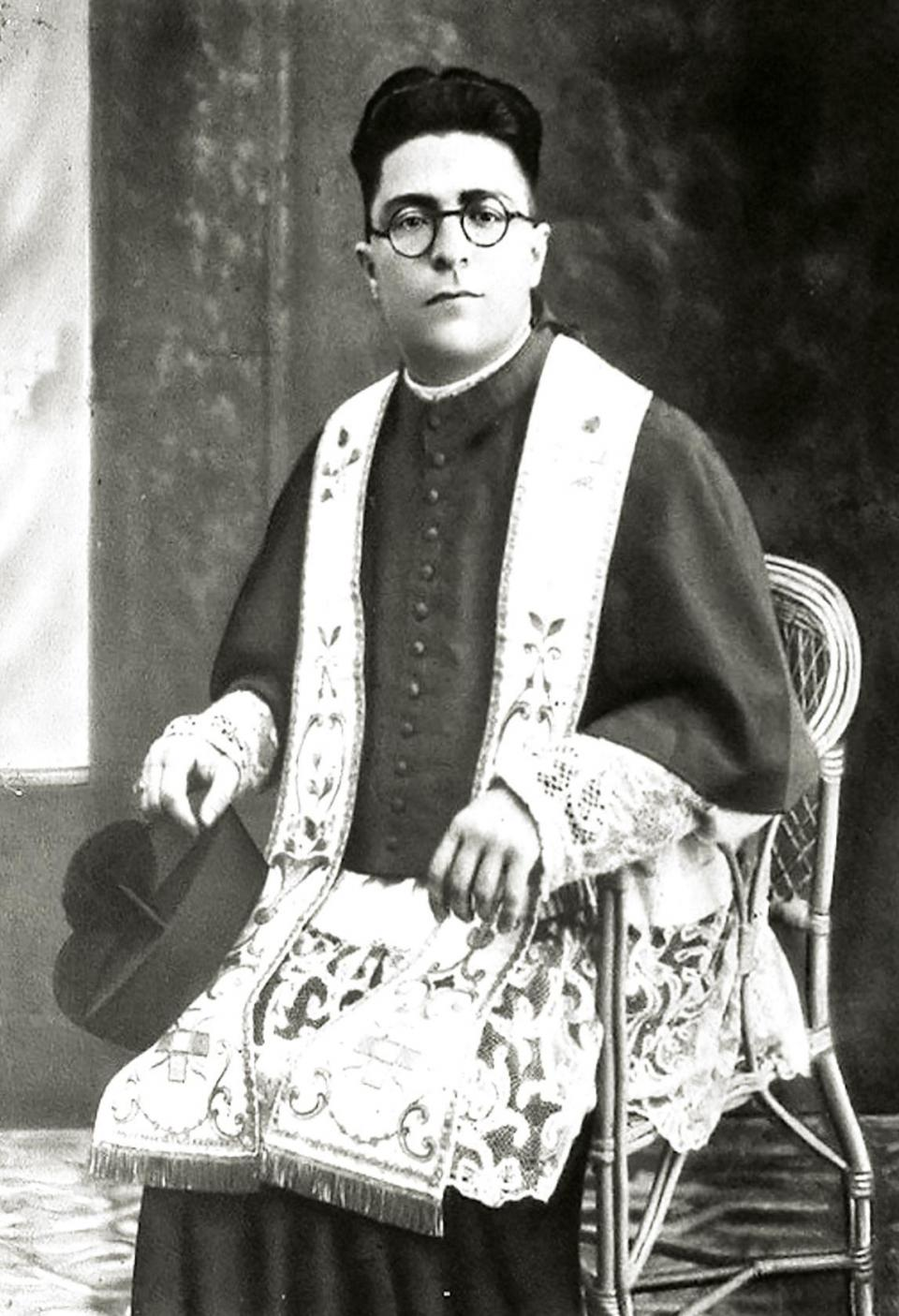 Mgr Joseph Zarb at the beginning of his ministry as parish priest.