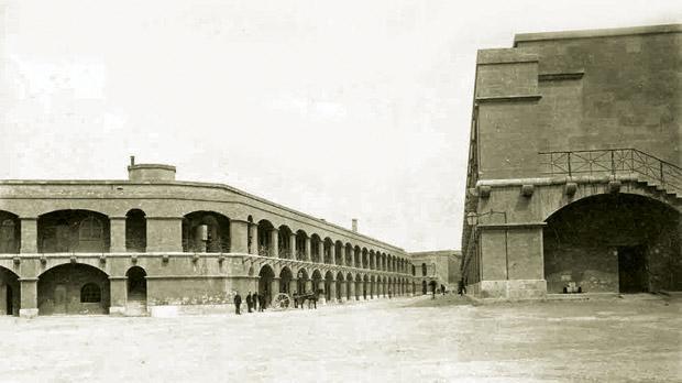 Inner courtyard of Fort Verdala in the 1890s.