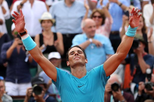 Spain's Rafael Nadal celebrates after winning the final against Austria's Dominic Thiem.
