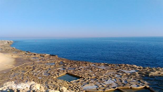 Salt pans in Xwejni, Gozo. Photo: Pierre Camilleri
