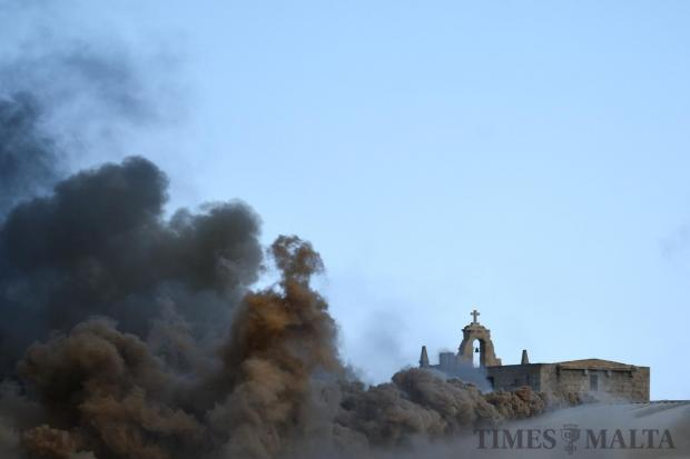 A fierce fire destroyed a large part of Sant Antnin recycling plant in Marsascala on May 22. Photo : Jonathan Borg