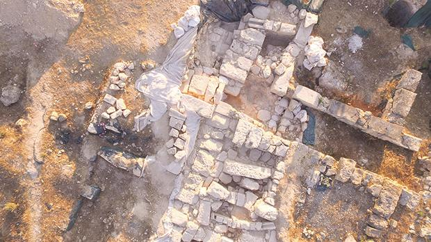 A photo of the Roman Villa in Żejtun taken by a drone piloted by Dr John Betts.
