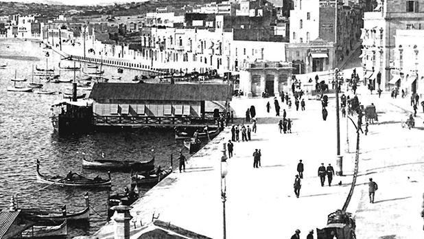 An early photo of the Sliema Ferries area. Photo: Michael Cassar