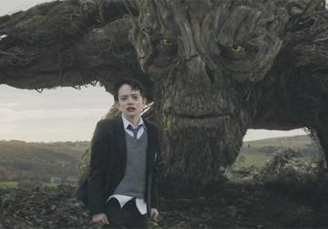 Liam Neeson and Lewis MacDougall in A Monster Calls.