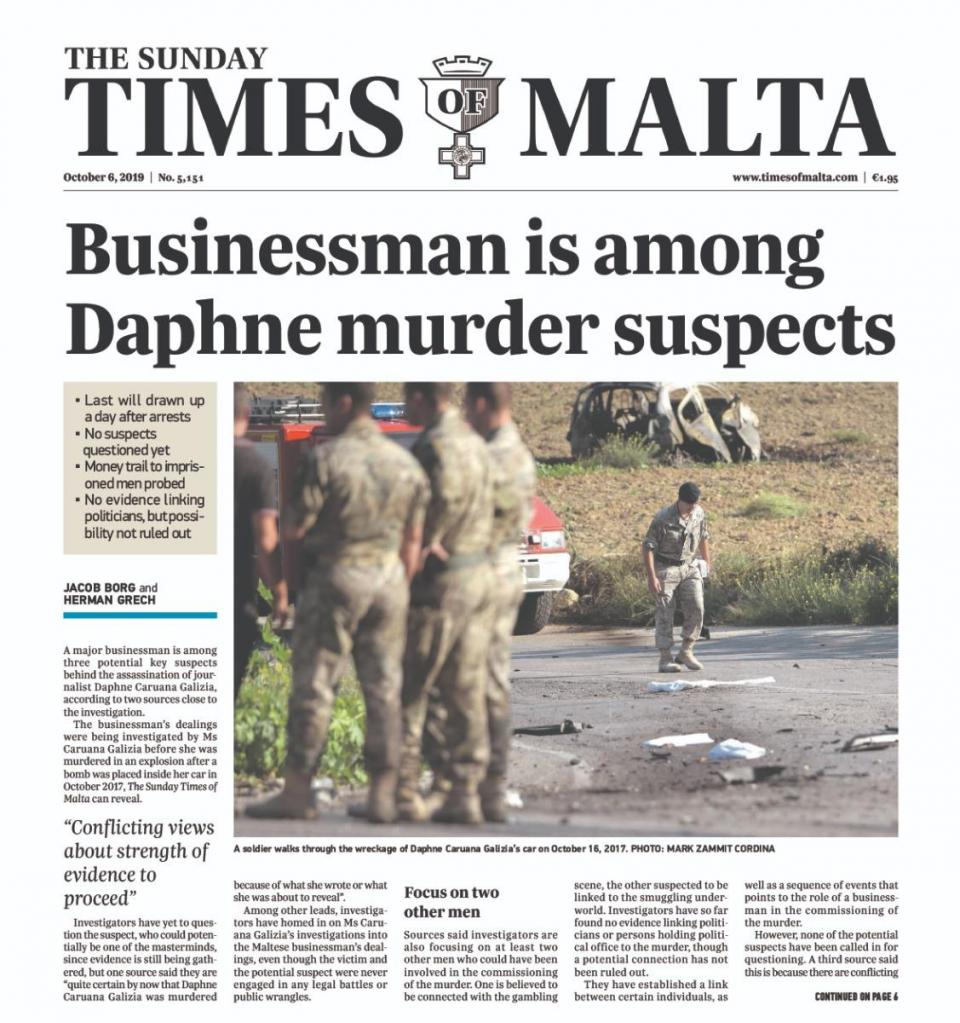 The October 2019 story in Times of Malta.