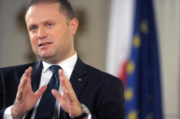 Prime Minister Joseph Muscat is interviewed for The Sunday Times of Malta on December 5. Photo: Jason Borg