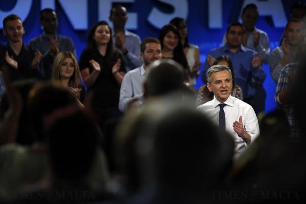 Nationalist Party leader Simon Busuttil addresses the PN general council at the party's headquarters in Pieta on May 15. Photo: Darrin Zammit Lupi